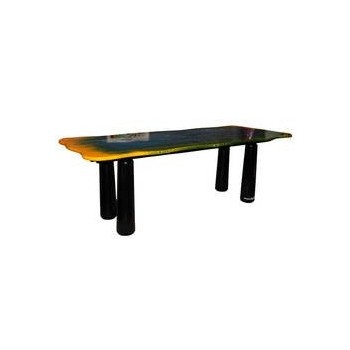 "Gaetano Pesce Dining Room Table, ""Le Fablier"" Edition, Signed."
