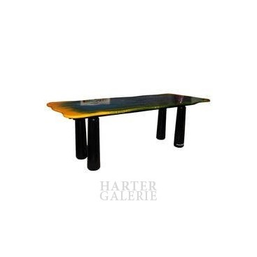 """Gaetano Pesce Dining Room Table, """"Le Fablier"""" Edition, Signed."""