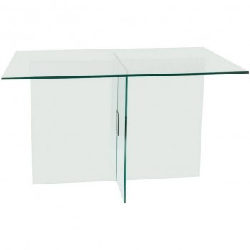Fontana Arte Table, Structure en laiton poli nickelé, Circa 1970, Italie.