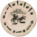 Picador, Stamped and Marked Edition Picasso and Madoura Partially glazed ceramic.