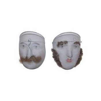 Pair of masks, fine and decorative wire mesh, Nice carnival mask, circa 1900, France.