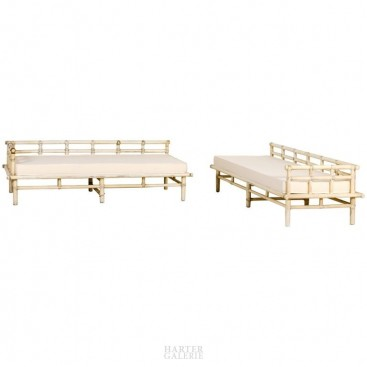 McGuire, Pair of Sofas, Lacquered Bamboo, Italy, circa 1960