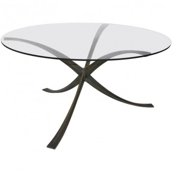 Michel Mangematin, Dining Table, Bronze and Glass, circa 1960, France