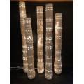 Georges Pelletier, Set of Five Totem Lights, Unglazed Ceramic, 1970, France