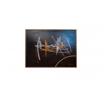 Peinture de Jean Wenceslas, Huile sur Toile, 1968, France