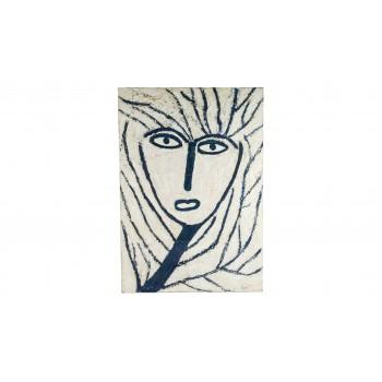 Remi Pesce (1930), Masque de Venise painting, signed, circa 1992, France.