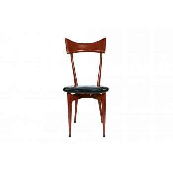 Ico Parisi, Set of Six Chairs, Wood, circa 1950, Italy