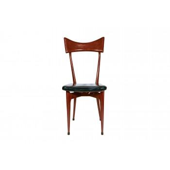 Ico Parisi, Set of Six Chairs, Wood, circa 1950, Italy