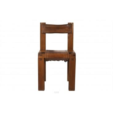 Pierre Chapo, Set of Six Chairs, S11 Model, circa 1960, France
