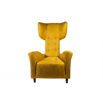 Renzo Zavanella, Pair of Armchairs, Yellow Original Textile, circa 1970, France