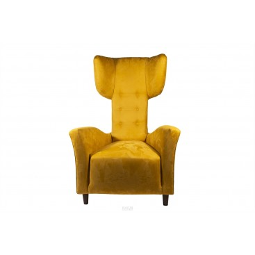 Renzo Zavanella, Pair of Armchairs, Yellow Original Textile, circa 1970, France