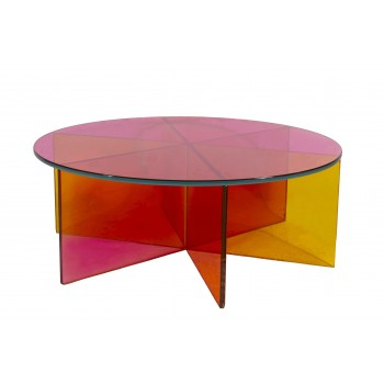 Johanna Grawunder, XXX Coffee Table, Glass, circa 2000, Italy