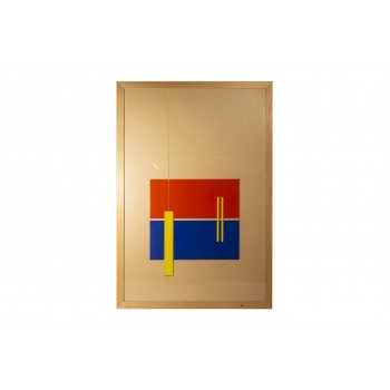 Albert Chubac, Geometric Collage, Signed and Numbered 3/8, circa 1980, France
