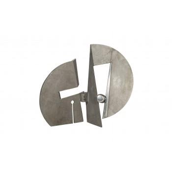 Nerone Ceccarelli, sculpture, aluminium casting, signed, circa 1970, Italy