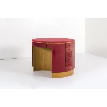 Luigi Caccia Dominioni, Round Table, Textile and Wood, circa 1960, Italy