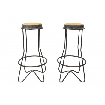 Mathieu Matégot, Pair of Stools, France, circa 1970