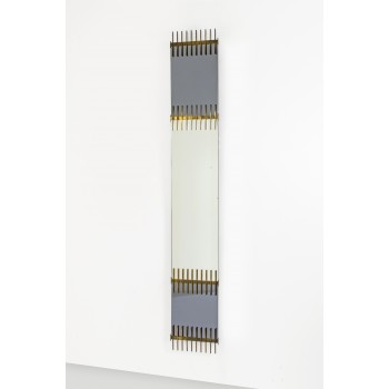 Ettore Sottsass, Wall Mirror Manufactured by Santambrogio and De Berti