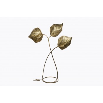 Tommaso Barbi, Rhubarb Floor Lamp, Golden Brass, Italy, circa 1970