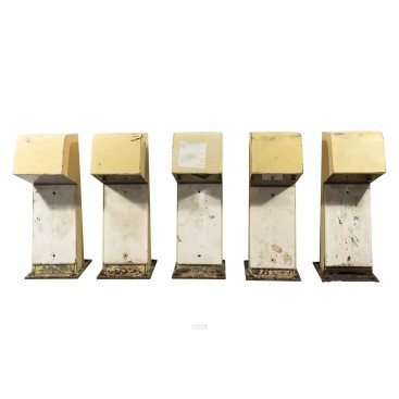 Jean Balladur (1924-2002), Set of Five Lighting Posts, France, circa 1969