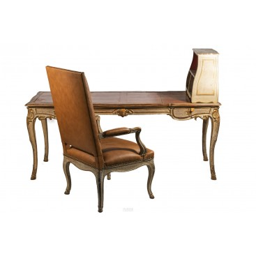 Maison Jansen, Desk and Armchair, circa 1960, France