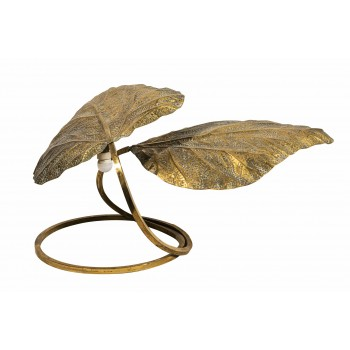 Tommaso Barbi, Rhubarb Table Lamp, Golden Brass, Italy, circa 1970