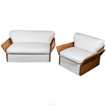 Kinga & Andreas Dozsa Farkas, Set of One Sofa and One Armchair, circa 1977