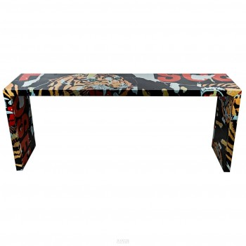 "Mimmo Rotella, Table ""Tigre"", Special Edition Artcurial, Italy"