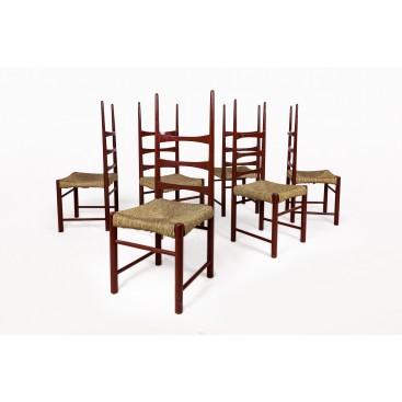 Jordi Villanova, Set of 6 Chairs, circa 1970, Spain