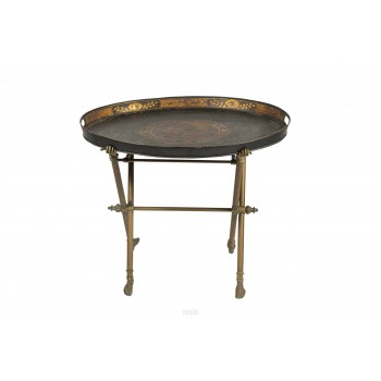 Coffee Table, France, Sheet Metal and Bronze, circa 1940