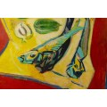 "Edouard Pignon (1905-1993), Painting ""Les Poissons"", France, 1944"