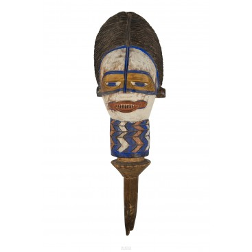 Important Kuyu Puppet Head, Congo, Early 20th Century