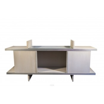 Angelo Mangiarotti, Sideboard, Lacquered Wood and Aluminium, circa 1965, Italy