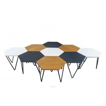 Gio Ponti, Set of 9 Coffee Tables, Edition ISA, Italy, circa 1970