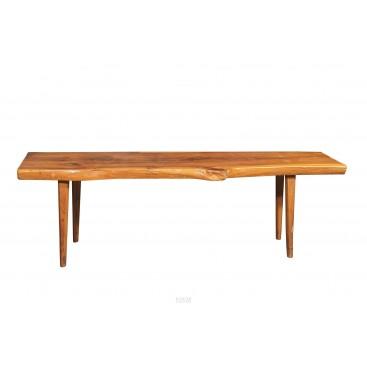 Dans le style de Nakashima, Table Basse Brutaliste, France, circa 1960