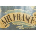Lucien Boucher, Important Air France Planisphere Painting, France, circa 1950