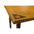 Coffee Table in Straw Marquetry, France, circa 1960