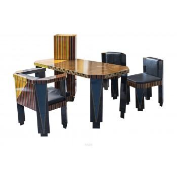 Guy de Rougemont '1935', Set of Desk and Armchair, France, circa 1986