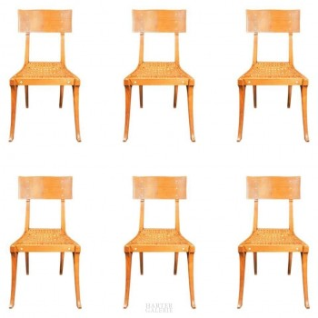 """Kerylos"", in the Style of Emmanuel Pontremoli, Six Chairs, France, circa 1970"