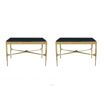 In the style of Armand-Albert Rateau, Pair of Tables, France, circa 1990