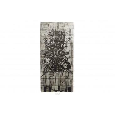 Jacques Pouchain, Importante Plate of 40 Ceramic Squares, France, circa 1960