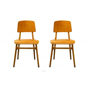 "Jean Prouvé, Pair of ""All Wood"" Chairs, France, 1942"