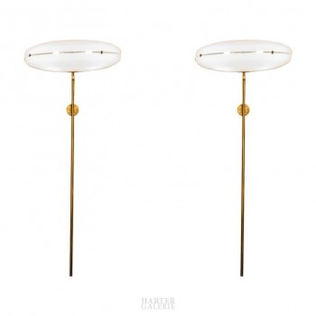 Gino Sarfatti '1912-1985', Pair of Wall Lights, Mod. 206, Arteluce, Italy, 1955