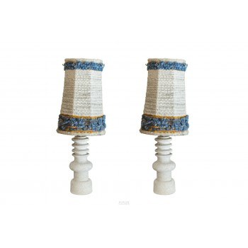 Pair of Table lamps, stone, circa 1950, France