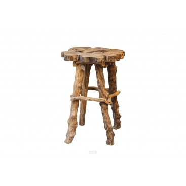 Brutalist style, Stand, Raw wood, circa 1920, France
