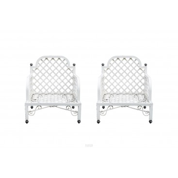 In the Style of Emilio Terry, Pair of Armchairs, circa 1960, Italy