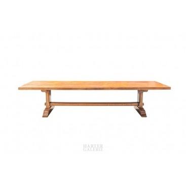Large Monastery Table, Natural Wood, circa 1970, France