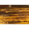 "Guy Lefevre for Jansen, Coffee Table ""Solar eruption"", circa 1970, France"