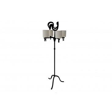 """Jean Touret (1916-2004) for the Marolles workshop, Floor lamp """"Girouette"""""""