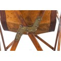 """Vittoriano Vigano, Pair of """"Tripolina"""" Chairs, Wood and Leather, circa 1936"""