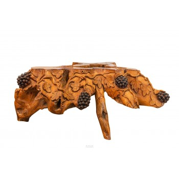 Important Coffee Table, Sculpted Wood, circa 1900, France